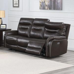 Fortuna Dark Brown 38-Inch Recliner Sofa