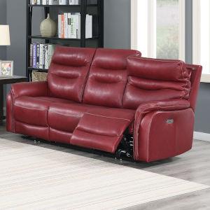 Fortuna Dark Red 38-Inch Recliner Sofa