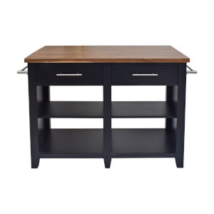 Hilton Black 36-Inch Counter Kitchen Island