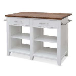 Hilton White 36-Inch Counter Kitchen Island