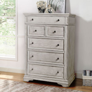 Highland Park Distressed Rustic Ivory Chest