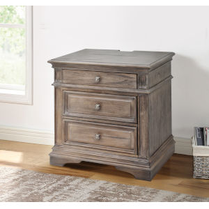 Highland Park Distressed Driftwood Nightstand