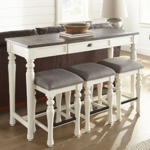 Joanna Ivory and Mocha Sofa Bar Set, 4-Piece