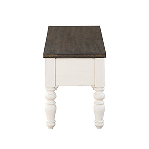 Joanna Ivory and Charcoal Two Tone Counter Table