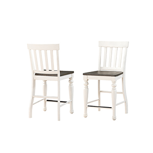 Joanna Ivory and Charcoal Two Tone Counter Chair