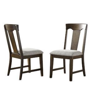 Laramie Walnut Side Chair, Set of Two