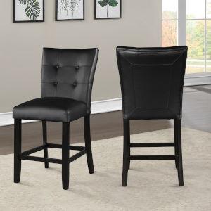 Markina Black and Ebony Counter Chair, Set of 2