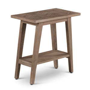 Milani Natural Chairside End Table