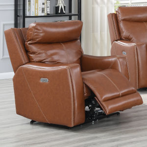 Natalia Caramel Leather 39-Inch Recliner