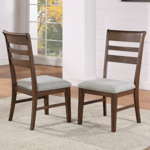Ora Warm Walnut  Side Chair, Set of 2