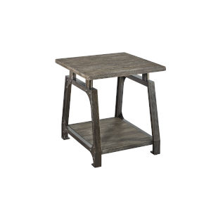 Avila Wire Brushed Honey Top and Antiqued Black End Table