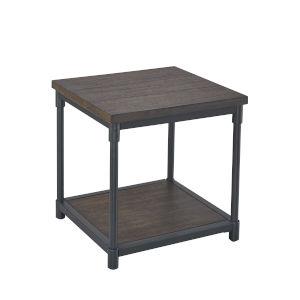 Prescott Smokey Oak and Black End Table