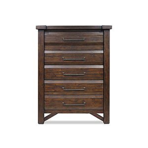 Timber Brown 5-Drawer Chest