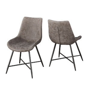 Ramona Brown and Bronze Side Chair, Set of 2