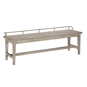Ryan Hand-burnished smoky oak Dining Bench