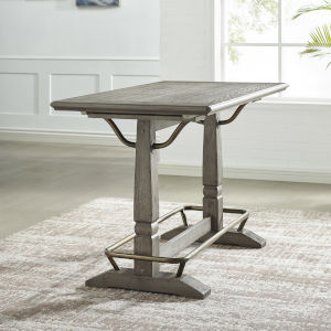 Ryan Hand-burnished smoky oak Counter Height Table