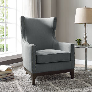 Roswell Gray Accent Arm Chair