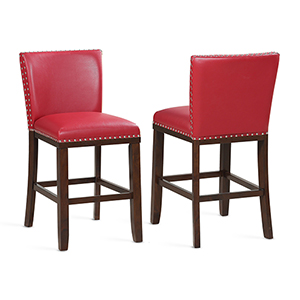 Tiffany Red Counter Stool