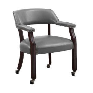 Tournament Gray 25-Inch Arm Chair