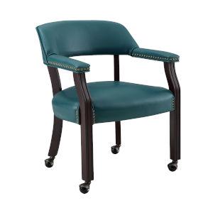 Tournament Teal 25-Inch Arm Chair