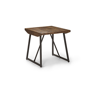 Walden Brown and Dark Gray Parquet End Table