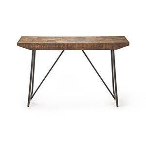 Walden Brown and Dark Gray Parquet Sofa Table