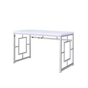 Alize White Writing Desk