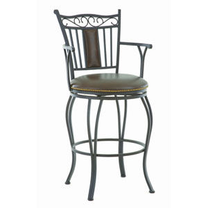 Barbara Jumbo Swivel Bar Chair w/Armrest