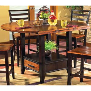 Abaco Drop Leaf Counter Table w/ Storage Base