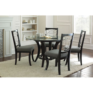 Cayman Side Chair in Black and Gray