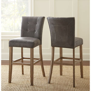 Debby Bar Chair Grey- Set of Two