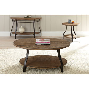 Denise Oval Cocktail Table in Light Oak