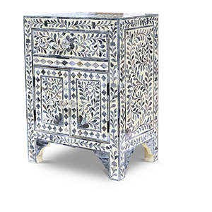 Fowler Lilac Gray Accent Cabinet