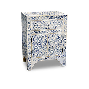 Kiran Blue and White Accent Cabinet