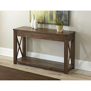 Lenka Mocha Oak Sofa Table