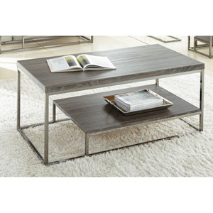 Lucia Cocktail Table w/Nickel