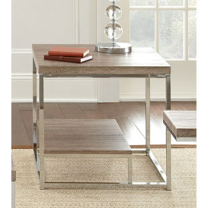 Lucia End Table, Brown