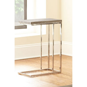Lucia Chairside End Table, Grey/Brown