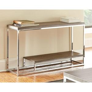 Lucia Sofa Table, Gray/Brown