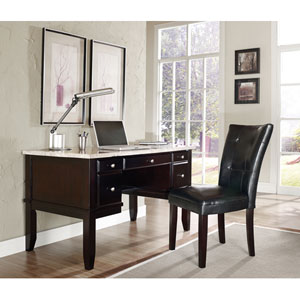Monarch White Marble Top Writing Desk