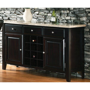Monarch Marble Top Wine Rack and Server