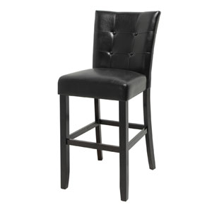 Monarch 30-Inch Bar Chair in Black
