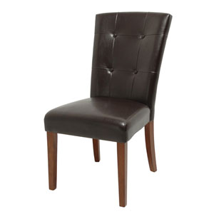 Montibello Dark Brown Arched Top Parsons Chair