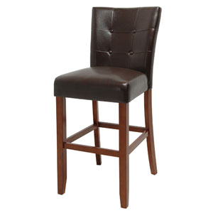 Montibello 30-Inch Bar Chair in Dark Brown