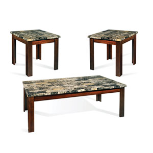 Montibello Three Pack Faux Marble Occasional Table Set