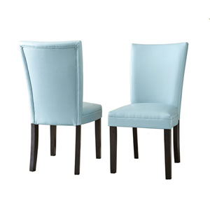 Matinee Bonded Leather Chairs Aqua