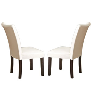 Matinee Bonded Leather Chairs White