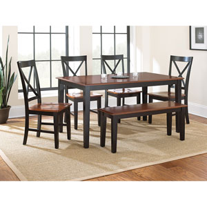 Kingston Dining Table, Oak/Black