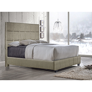 Brooklyn Sand Tufted Queen Bed