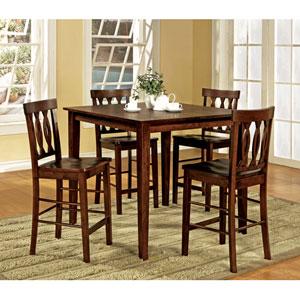 Richmond Espresso Counter Table Five Piece Set